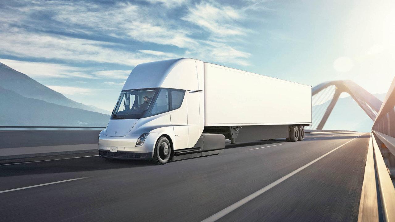 Přinese tahač Tesla Semi revoluci dosilniční nákladní dopravy?