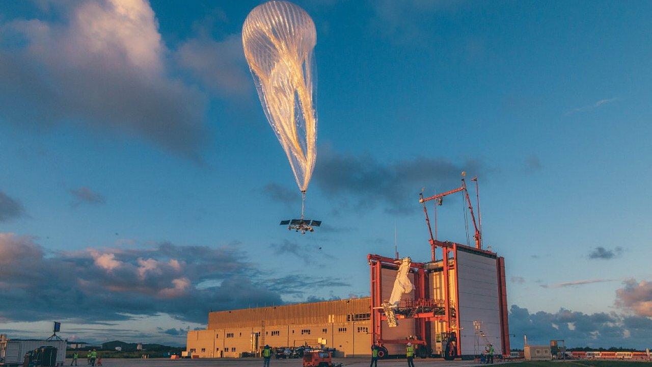 Vypouštění balónu projektu Loon