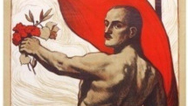 První dělnická olympiáda v Praze, 1921. Návrh Václava Čutty je dnes ceněným sběratelským artefaktem.