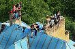 Squateři na střeše vily Milada