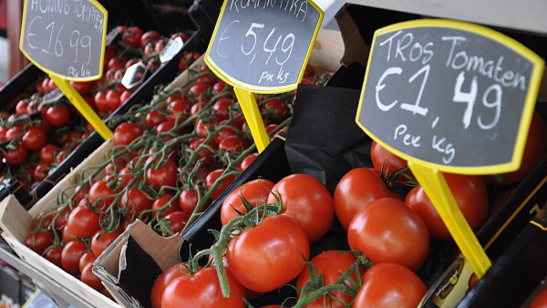 Rajčata v nizozemské samoobsluze