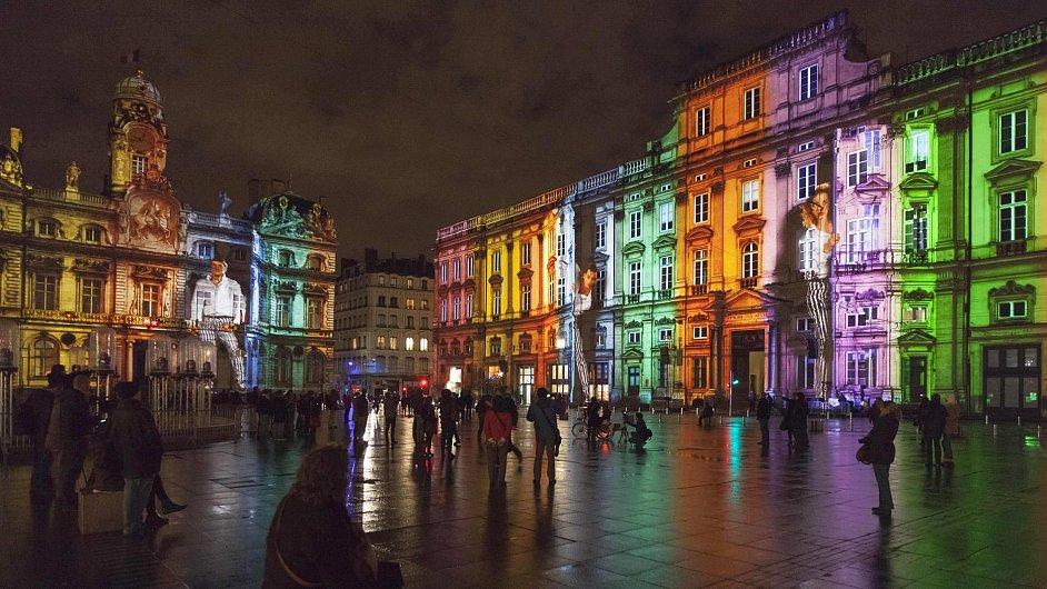 Festival světel v Lyonu.