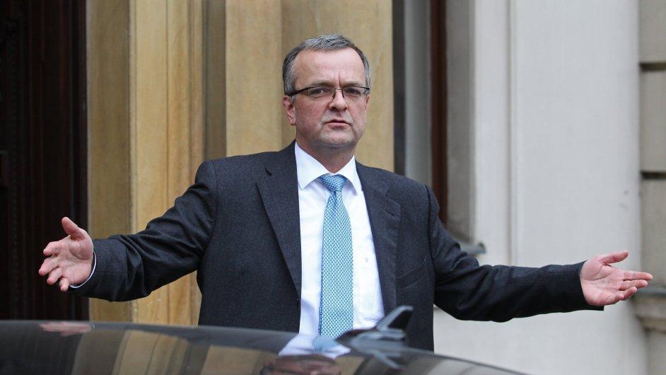 Ministr financí a místopředseda TOP 09 Miroslav Kalousek.