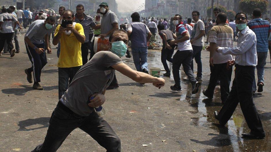 Násilné protesty v Káhiře.