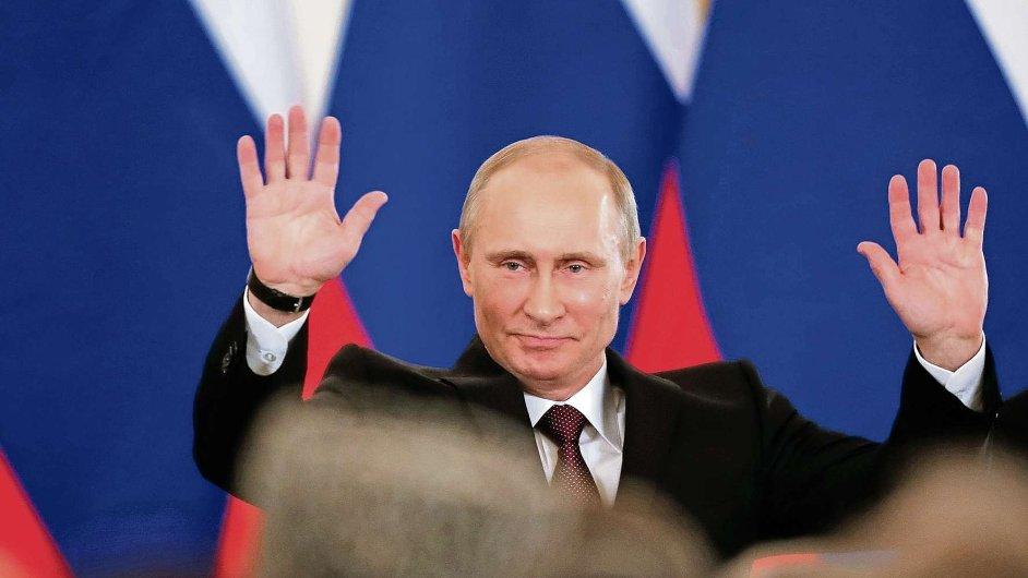 Ruský prezident Vladimir Putin po podepsání smlouvy o připojení Krymu k Rusku