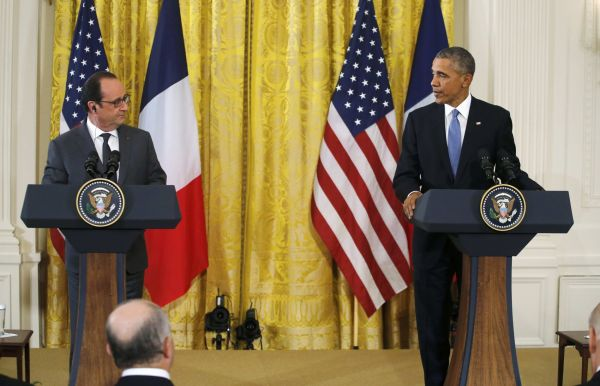 Obama Hollande USA France