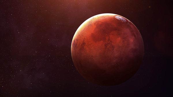 Rudá planeta Mars.