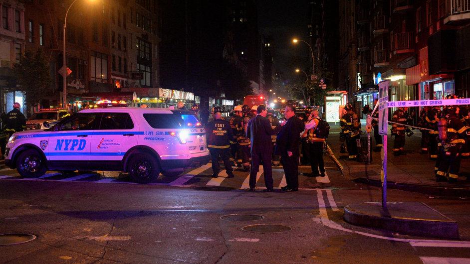 New York, Manhattan, výbuch