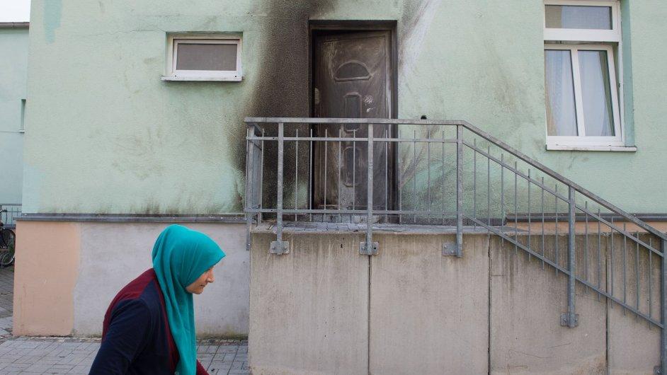 Jedna z bomb explodovala před drážďanskou mešitou.