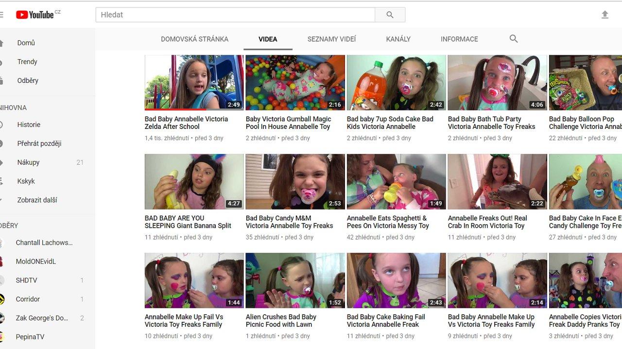 Youtube je plné podivných videí se zneužíváním dětí či kreslených seriálů se škodlivým obsahem