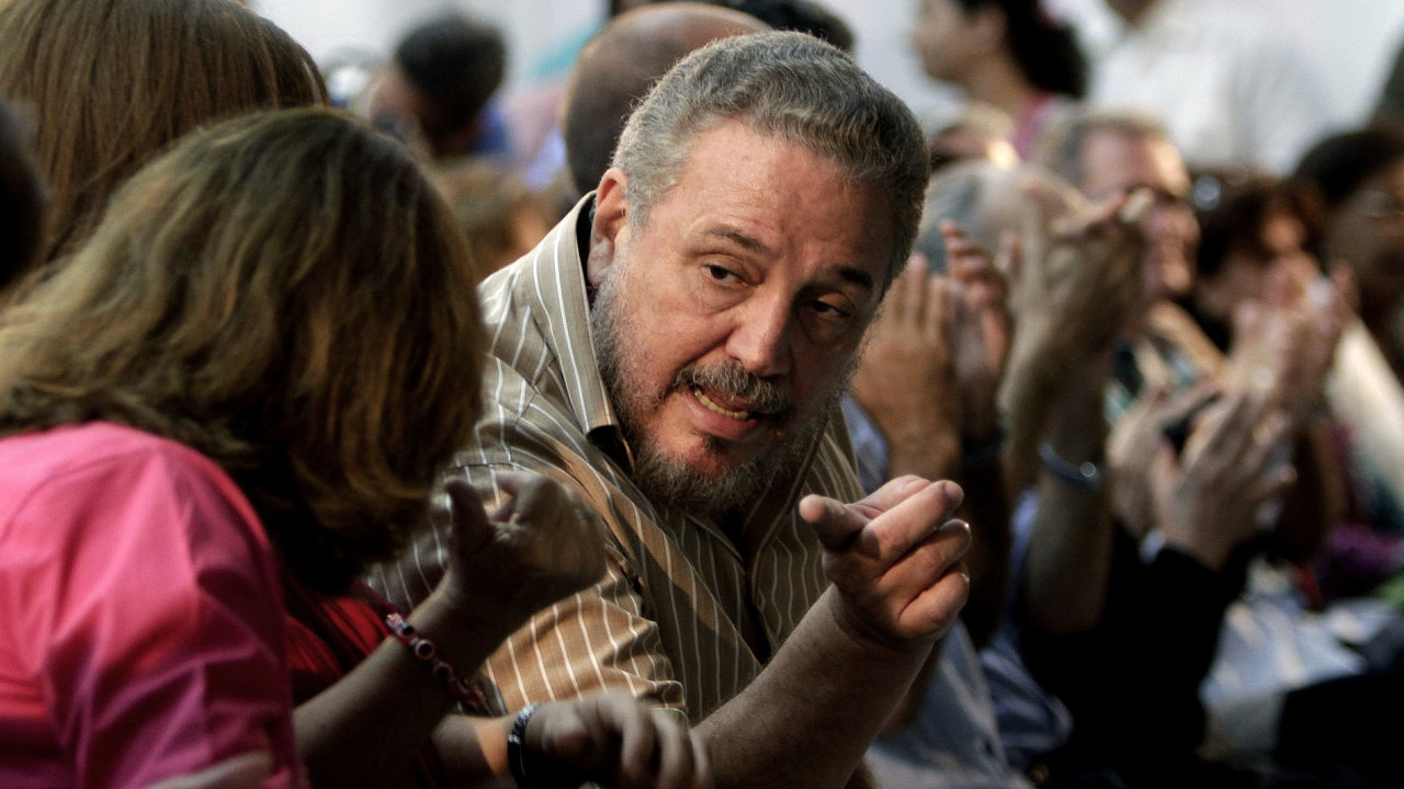 Fidel Castro Díaz-Balart (vpravo) na snímku z března roku 2012.