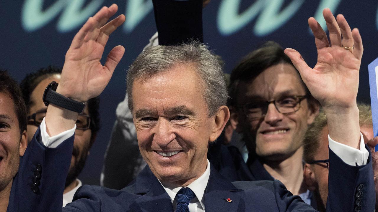 Letos hodnota majetku Bernarda Arnaulta vzrostla téměř o 32 miliard dolarů.