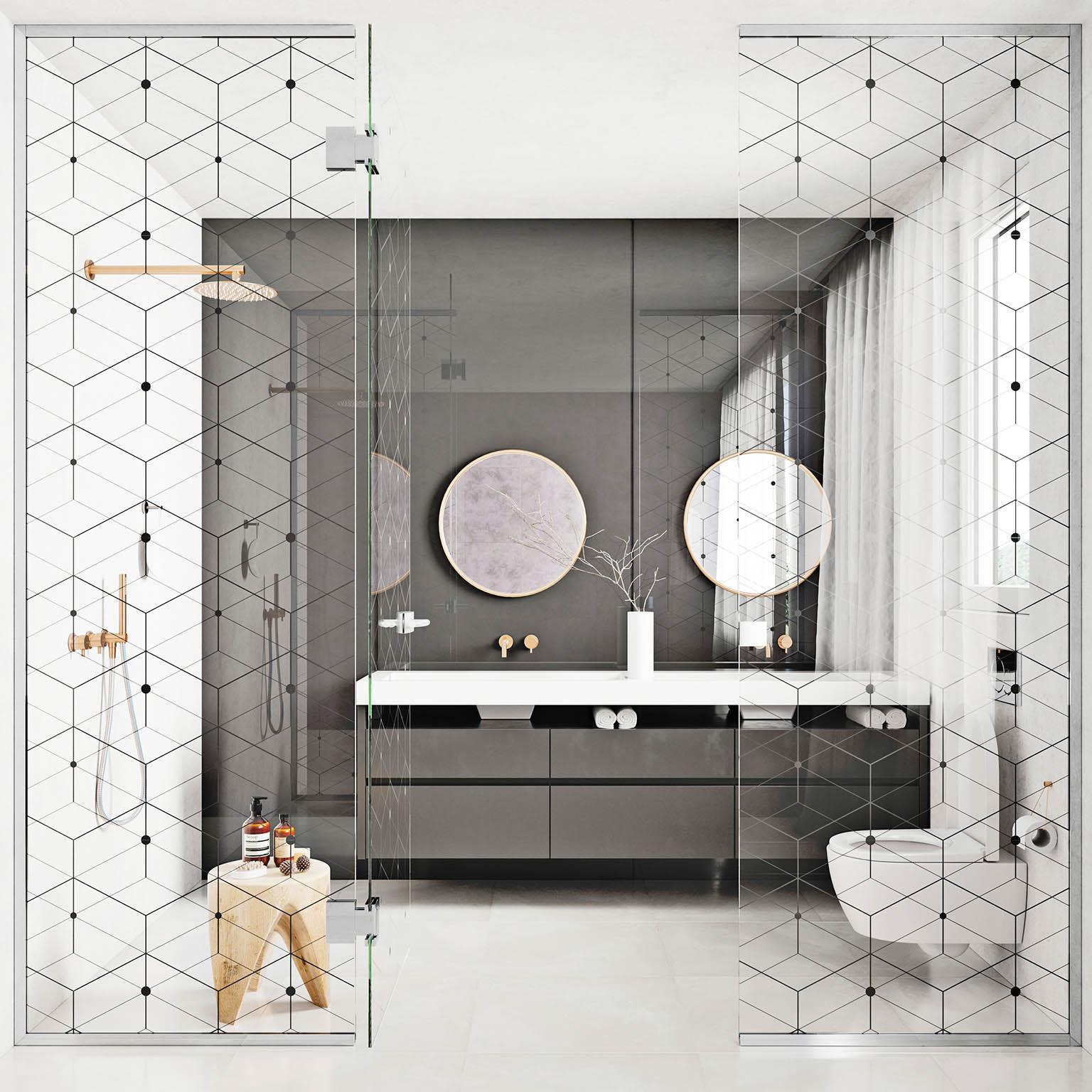 Průhledné aprůsvitné materiály interiér opticky zvětšují.