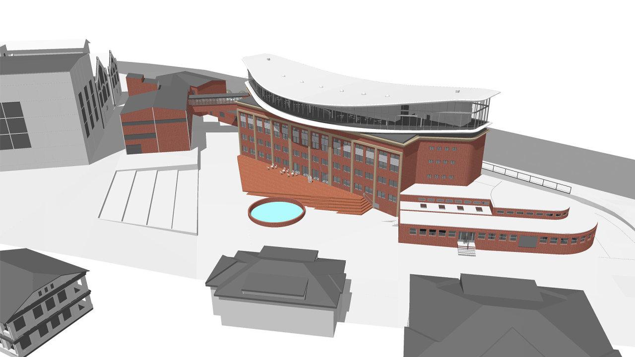 Vizualizace projektu podle návrhu architekta Josefa Pleskota.