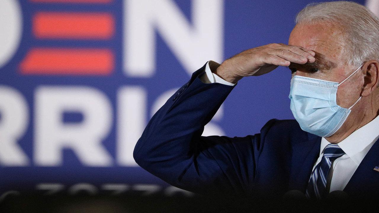 Nadějné vyhlídky: Joe Biden vyhlíží vítězství vprezidentských volbách. Asním iburzovní investoři, kteří se původně obávali zvyšování daní.