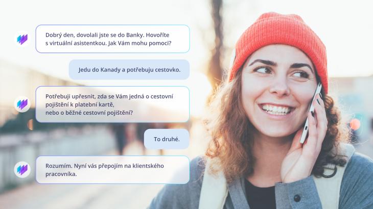 Takto může probíhat konverzace s virtuální hlasovou asistentkou.