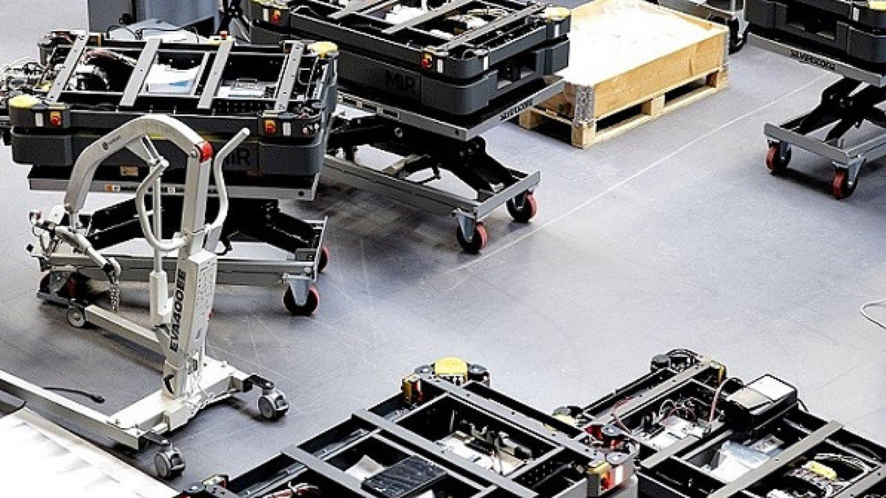 Výroba AMR robotů MiR.