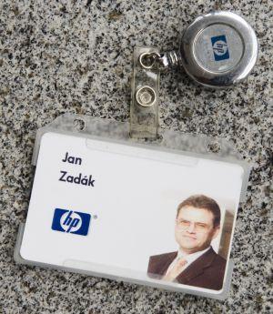 Kartička Jana Zadáka z HP