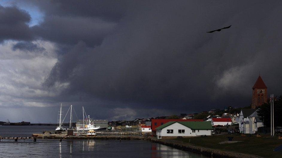 Přístav v hlavním městě Falklandských ostrovů Stanley