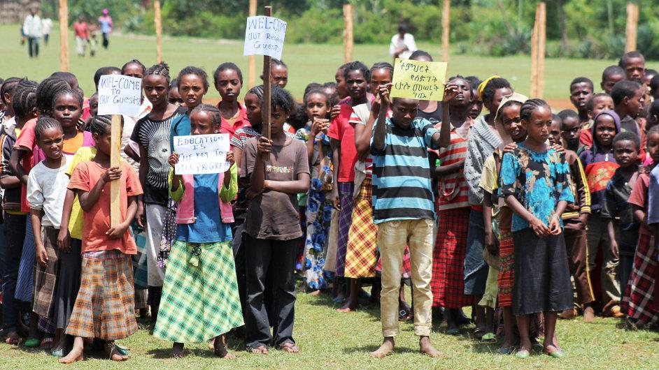 V etiopském Mesinchu vyrostla díky skautům a Člověku v tísni nová škola pro 850 žáků