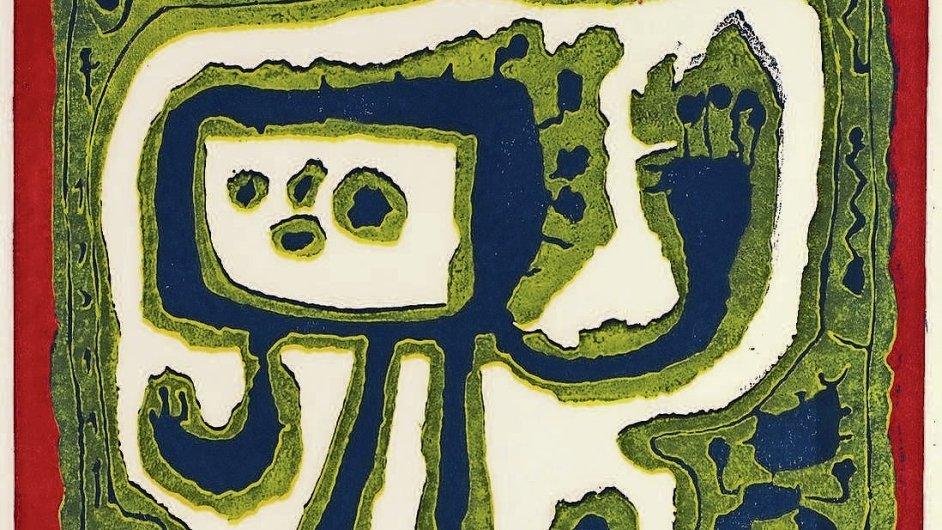 Figura bez názvu z roku 1959. O tři roky později Jan Křížek s uměním definitivně skončí a odstěhuje se na venkov včelařit.