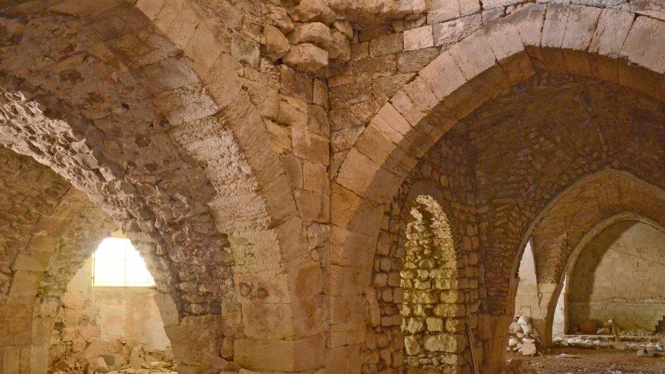 Renovovaný interiér křižáckého špitálu v Jeruzalémě.