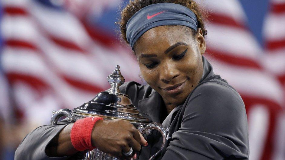 Serena Williamsová s trofejí z US Open
