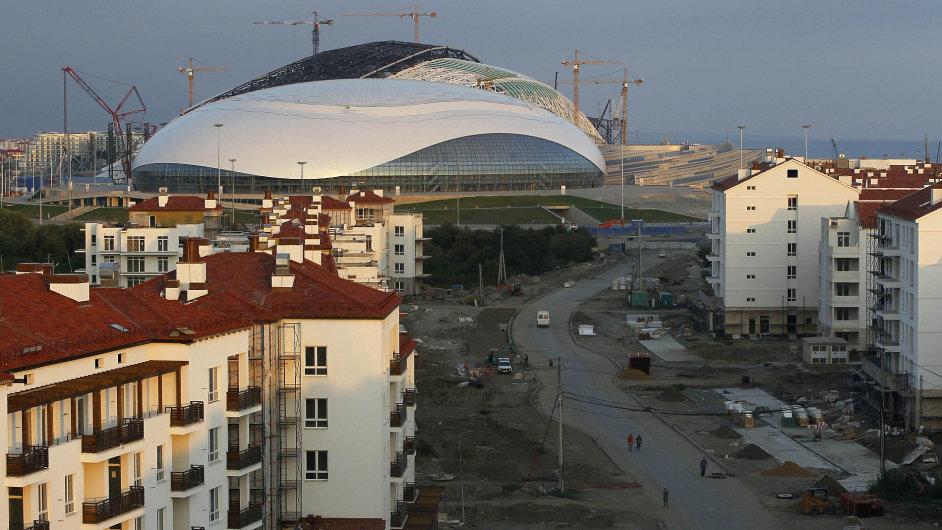 Olympijská vesnice pro zimní olympijské hry pořádané v únoru 2014 v Soči
