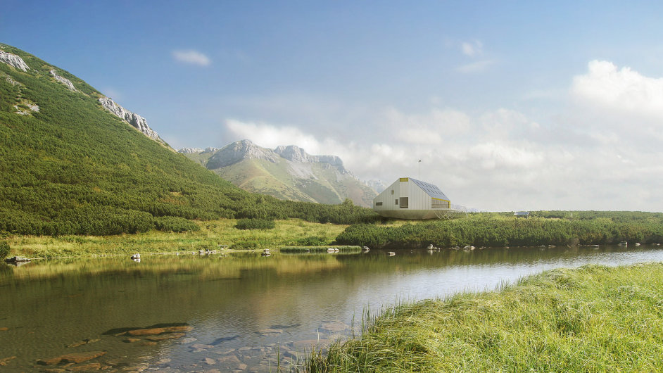 Vítězný návrh Kežmarské chaty ve Vysokých Tatrách