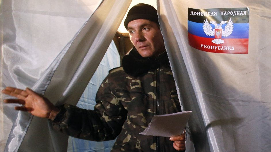 Separatistické volby na východě Ukrajiny.