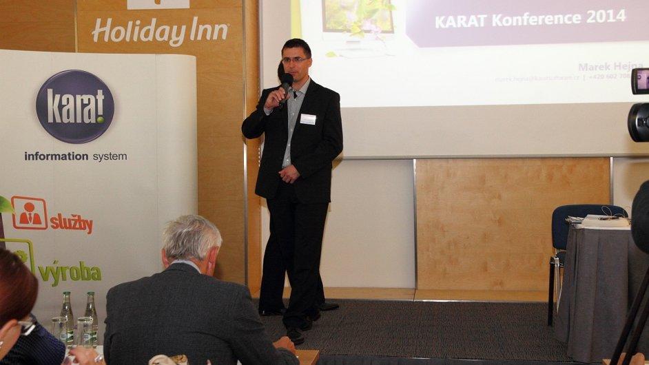 Martin Válek, generální ředitel společnosti Karat, na tradičním setkání zákazníků informačního systému.