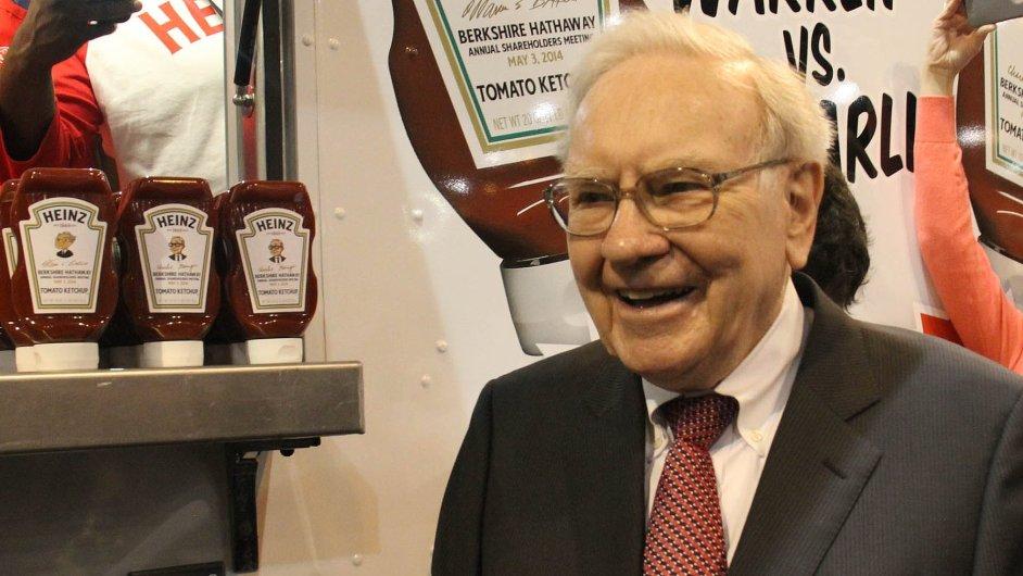 Buffett opět na nákupech. Americký miliardář vytvoří pátou největší světovou potravinářskou firmu spojením výrobců Kraft Foods Group a H.J. Heinz.