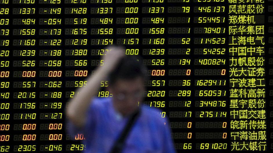 Klíčový index šanghajské burzy včera ztratil 8,5 procenta.