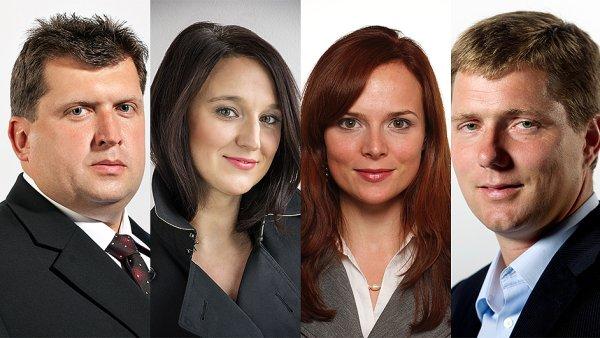 Nov� mana�e�i ve VLP (zleva: Josef Moravec, Eva Han�kov�, Dominika Kalinov� a Petr Marek)