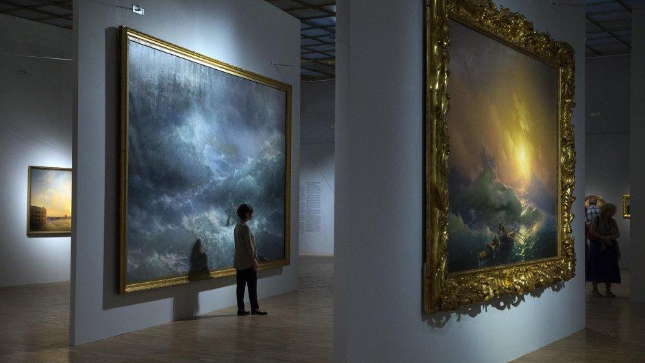 Snímek z výstavy Ivana Ajvazovského