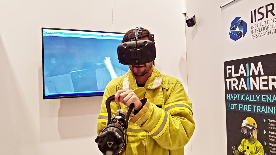Virtuální realita poslouží i při výcviku hasičů.
