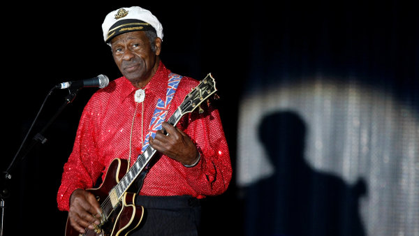 Chuck Berry je na snímku z koncertu v Monte Carlu roku 2009.