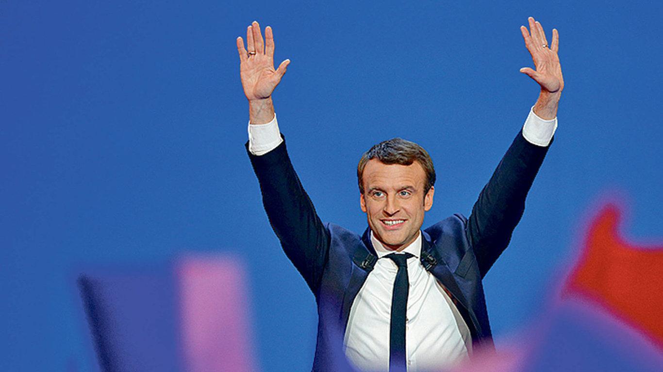 Macron vítězstvím v prvním kole posílil euro