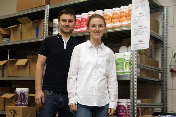 Majitelé firmy Fit-day v Hlubočkách u Olomouce, manželé Jitka a Jakub Molnárovi. Foto: Libor Teichmann