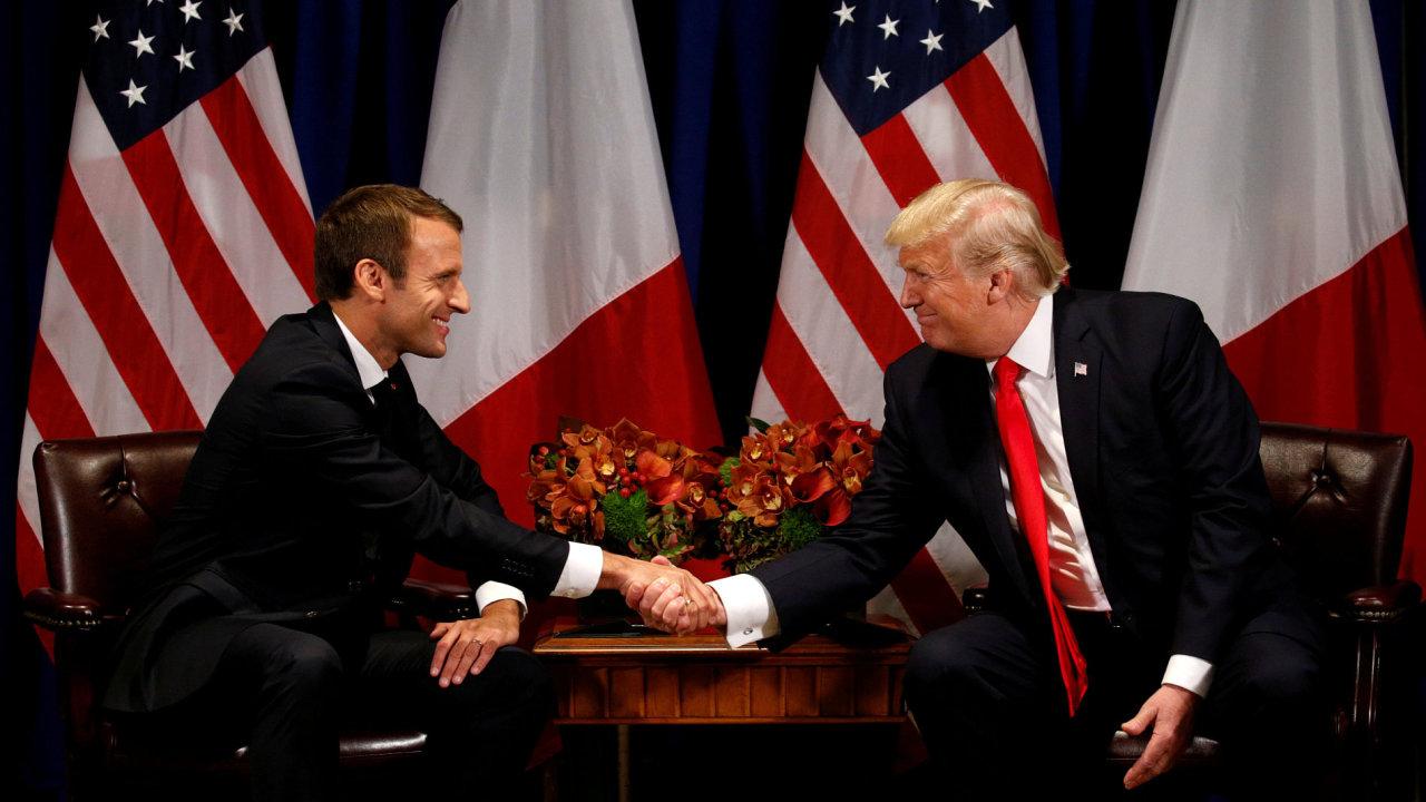 Trump New York Macron