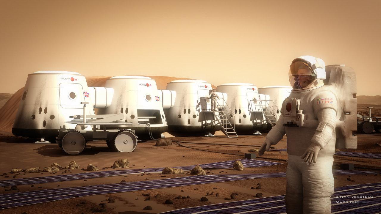 Plánovaná marsovská základna v projektu Mars One.