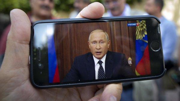Televizní projev prezidenta Vladimira Putina ve středu sledovaly miliony Rusů.
