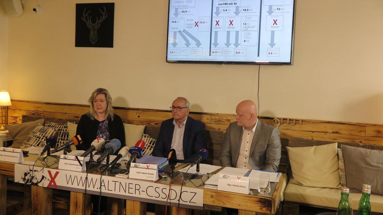 Veronika Altnerová, Václav Veselý a Patrik Altner (zleva).