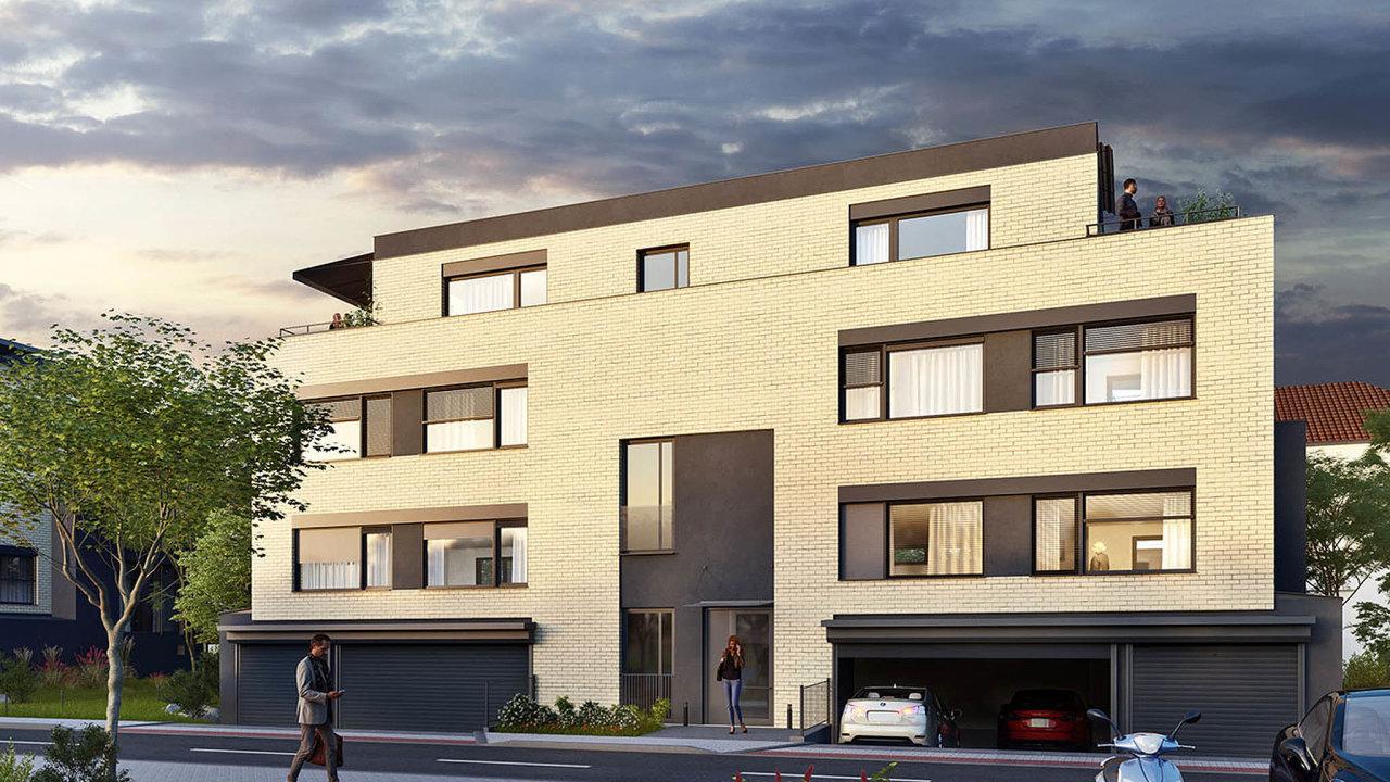 Nabídka nových bytů vPraze klesá. Vizualizace pražský projekt Villadomy Tulipa Třebešín developera AFI Europe.