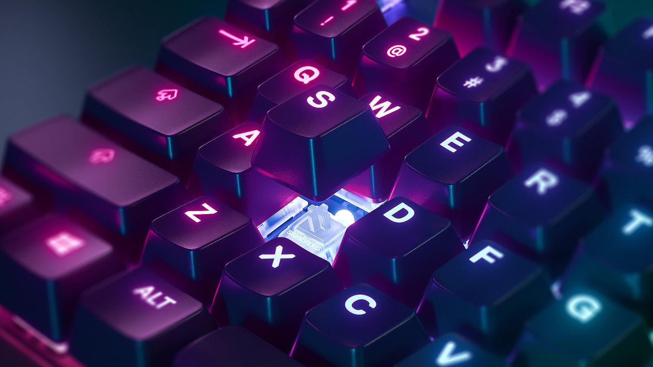 Nová klávesnice SteelSeries umí měnit hloubku stisku.