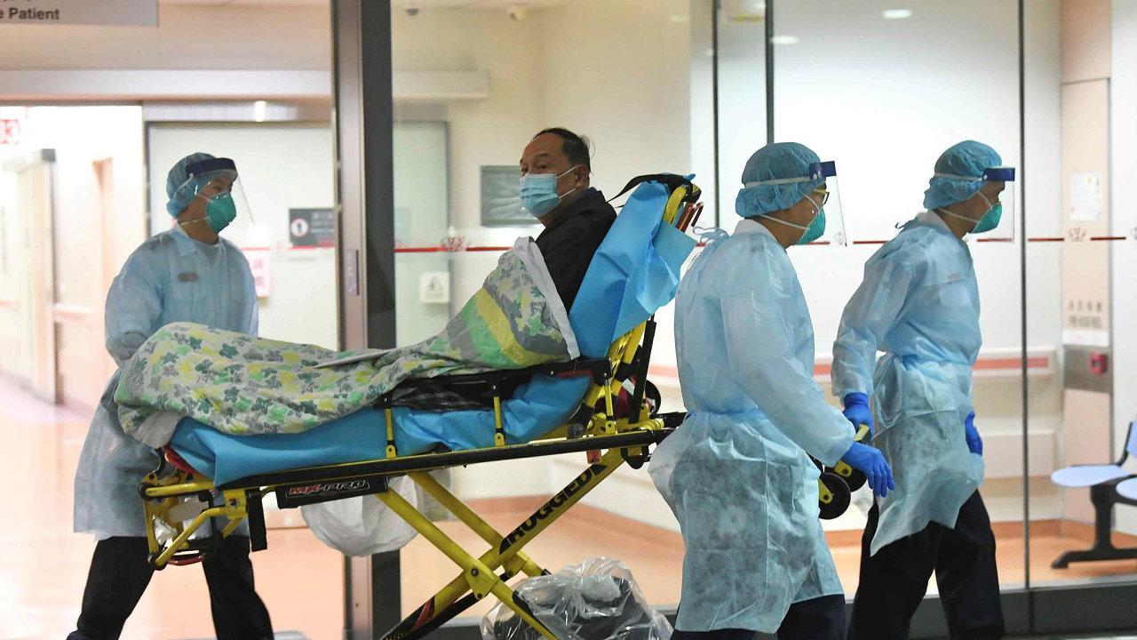 Wang Wen-ťün pro BBC popsala, jaký je ve Wu-chanu pro nemocné problém dostat se k lékařské péči (snímek je z jedné z místních nemocnic).