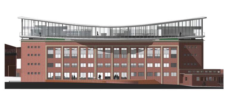 Vizualizace projektu nového sídla Kofola podle návrhu architekta Josefa Pleskota.