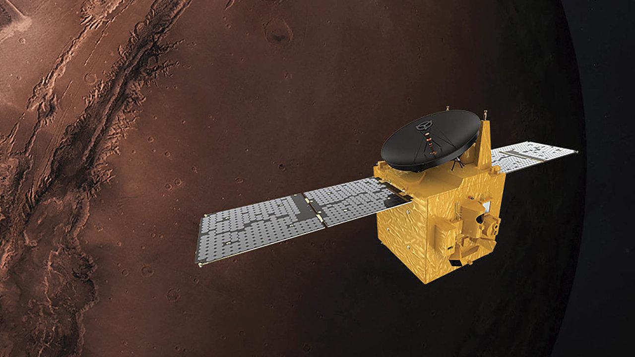 Vizualizace družice Amal (Naděje)
