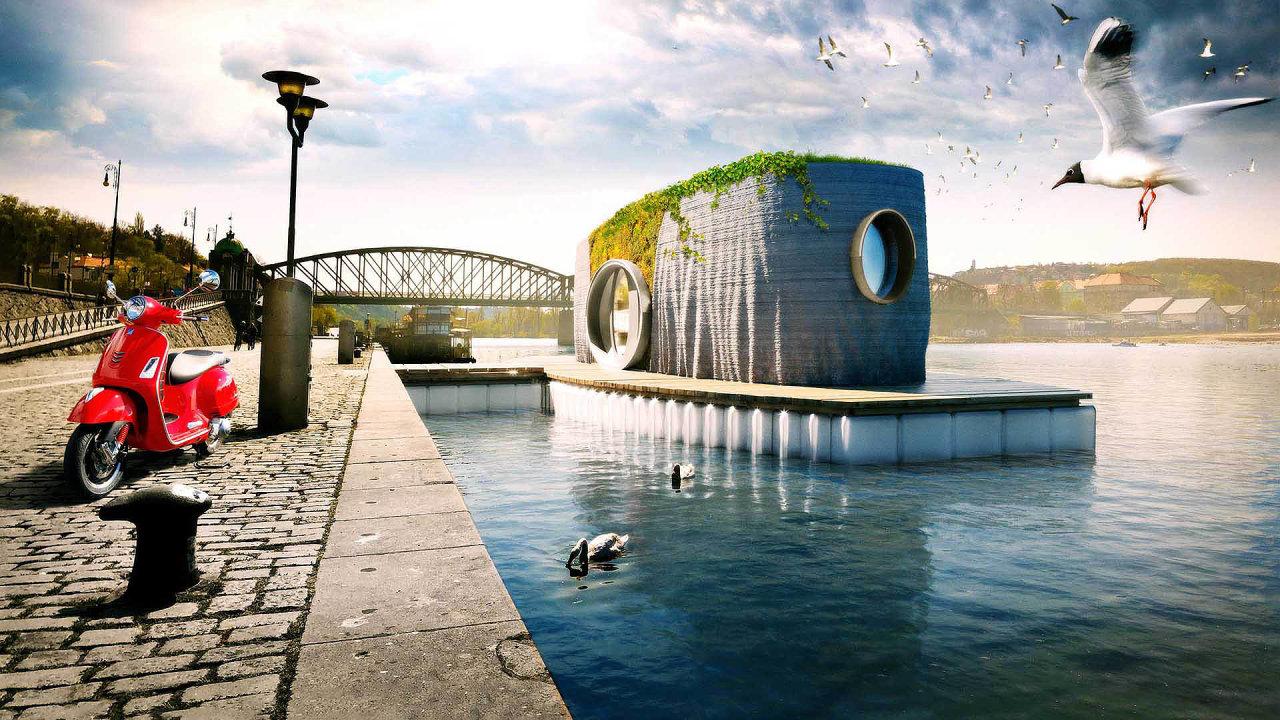 Iprvní český dům vytištěný na3D tiskárně snázvem Prvok využívá recyklované materiály.