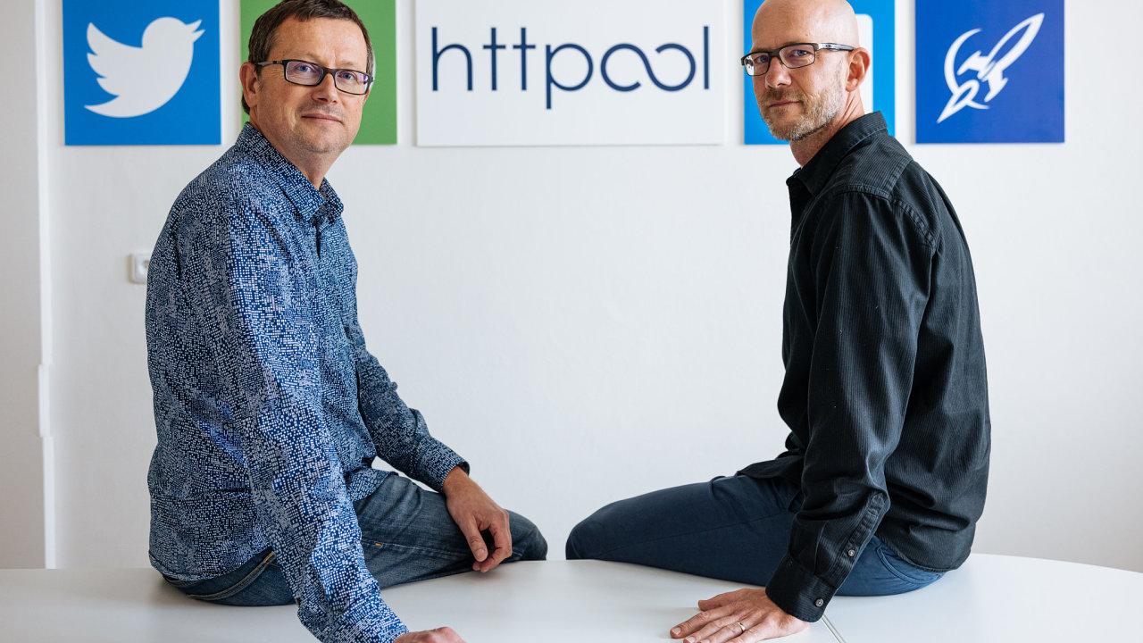 Petr Touš (vlevo) a Filip Kec ze společnosti Httpool